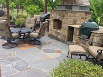 Flagstone patio install in Frisco, Stone work in little elm