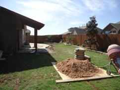 In progress of hardscape and landscape projects.