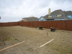 Before construction of hardscape and landscape began.