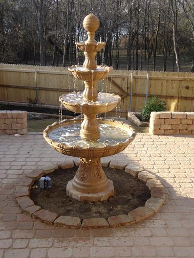 We install fountain or pondles water falls